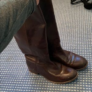Chocolate brown Frye boots